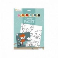 Tableau à peindre - Graffy Paint : Renard pilote