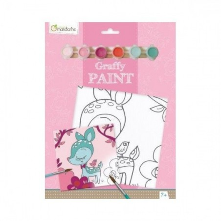 Tableau à peindre - Graffy Paint : Faon