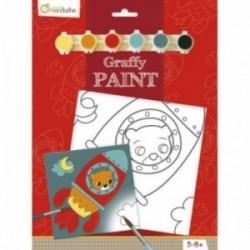 Tableau à peindre - Graffy Paint : Ours fusée