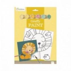 Tableau à peindre - Graffy Paint : Lion