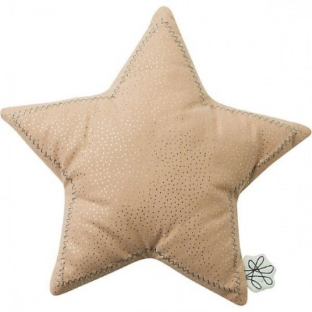 PICCA LOULOU - Coussin Etoile rose 25 cm