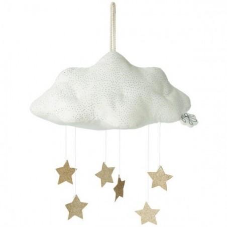 PICCA LOULOU - Coussin Nuage et étoiles 34 cm