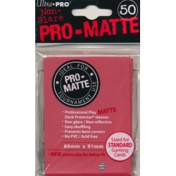 Sleeves Pro-Matte Rouge 66 mm x 91 mm (50)