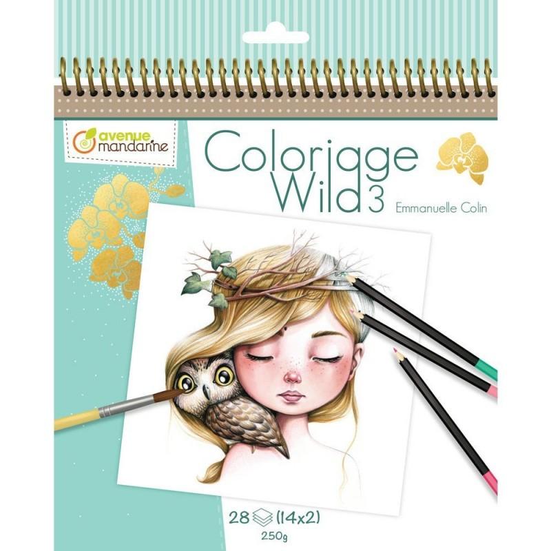 Carnet de coloriage : Wild 3