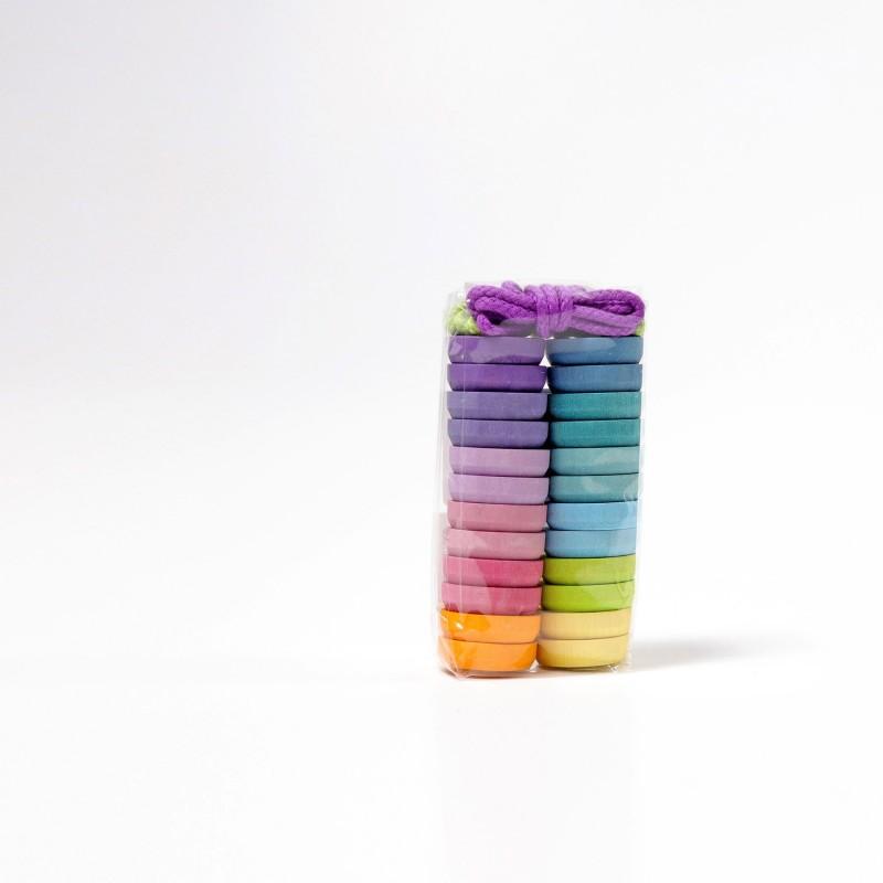 Boutons Pastel (24 Pces)
