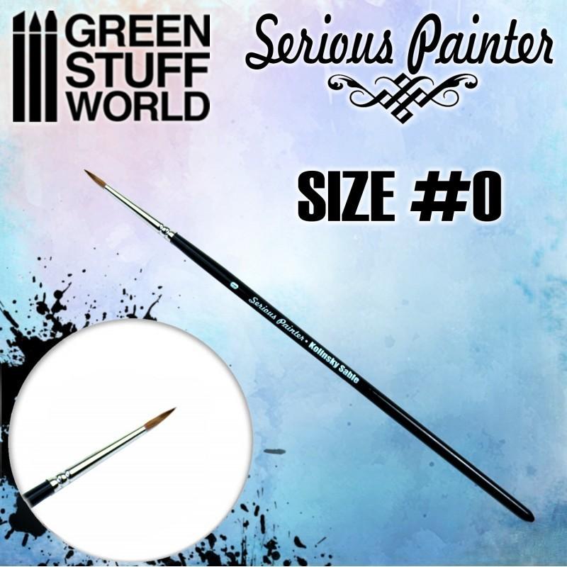 Green Stuff World - Pinceau Premium Kolinsky Serious Painter - 0