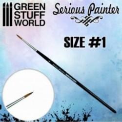Green Stuff World - Pinceau Premium Kolinsky Serious Painter - 1