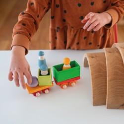 Train en bois 11 pièces - Grimm's
