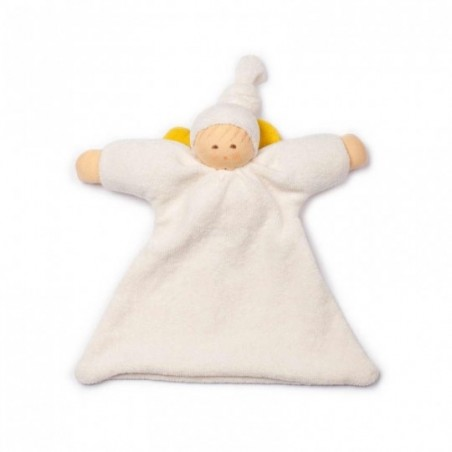 Doudou Angelot Blanc neige 21 cm
